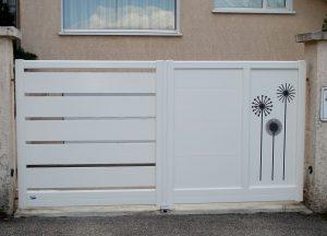 Portail-Battant-Aluminium-blanc-Annecy
