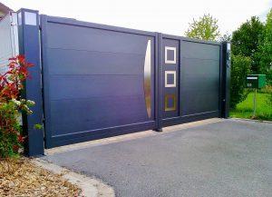 Portail-Battant-Aluminium-Ceres-gris-Marnaz