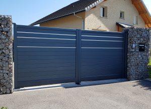 Portail-Battant-Aluminium-gris-Cluses