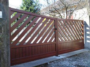 Portail-Battant-Aluminium-ton-bois-Presilly