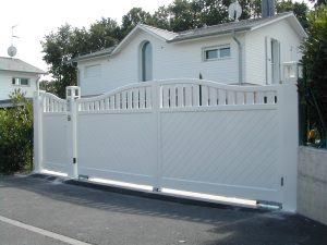 Portail-et-portillon-Aluminium-Blanc-Annecy