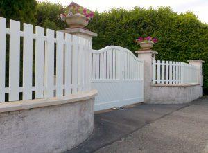 Portail-battant-et-clôture-Aluminium-Blanc-Magland