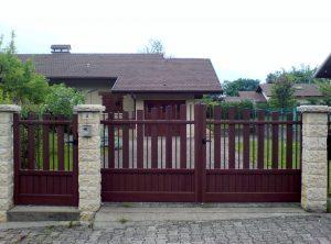 Portail-Battant-et-portillon-Aluminium-ton-bois-Annecy