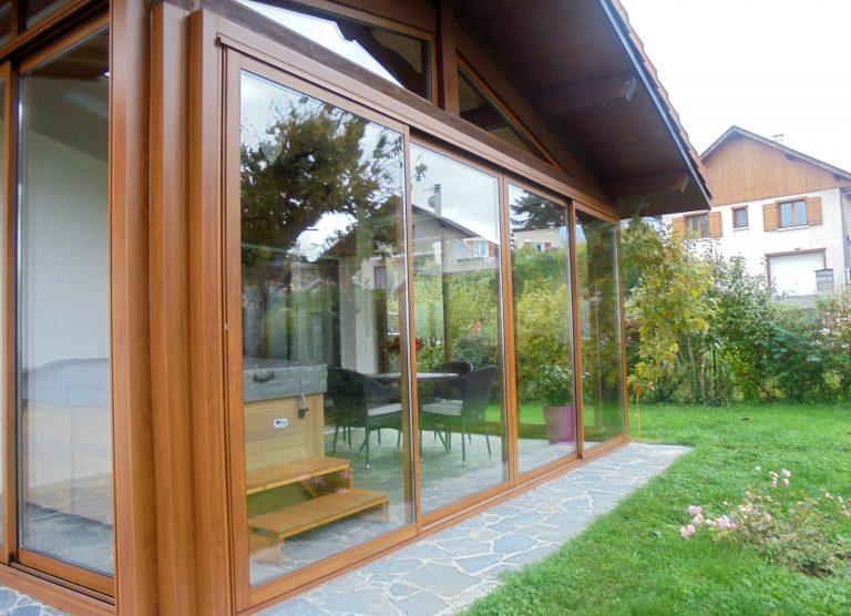 Porte-fenêtre-Aluminium-ton-bois-Cluses