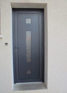 Porte-entrée-Aluminium-Poisy