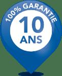 100 % Garantie 10 ans